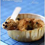recette Crumble express poires et chocolat