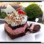 recette cheese-cake léger cookies mousse fromage-blanc à la fraise et sa gelée de coulis meringué