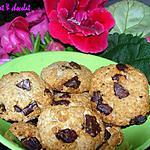 recette *Biscuits croquants légers flocons d'avoine, Amande & Noix de Coco façon Cookies*
