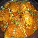 recette Hauts de cuisses de poulet au curry