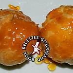 recette Choux à la crème pâtissière et caramel