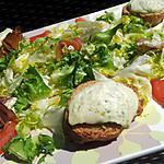 recette Salade d'involtini et ses croutons de chévre chaud