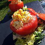 recette Tomates farçies de salade de riz au surimi