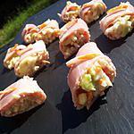 recette Roulé *pique-nique*de jambon au surimi et avocat