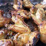 recette Aîles de poulet rôtis a la moutarde au basilic