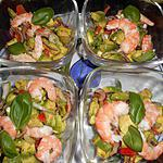 recette Verrines d avocat et crevettes