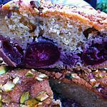 recette Cake aux cerises, citron et pistaches
