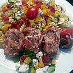 recette Brochettes sur BBQ et salade de pâtes froides