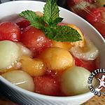 recette Méli mélo pastèque et deux melons