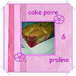 recette cake poire & praline