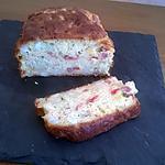 recette Cake Fèves - poivrons - oignons - mais - jambon