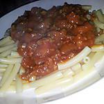 recette Macaroni à la bolognaise