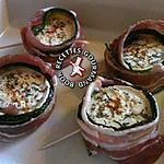 recette Roulés de courgettes au lard
