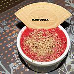 recette Bavarois fraises, noisettes et fromage blanc