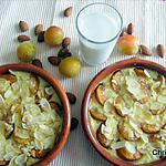 recette Lait d'amandes et flans aux mirabelles