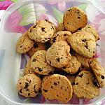 recette COOKIES NOISETTES - CACAHUETE - CHOCOLAT