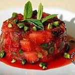 recette Tartare de fraises au basilic