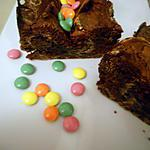 recette Moelleux au cacao et smarties