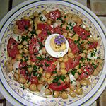 recette ce soir c'est pois-chiches en vinaigrette et thon