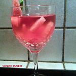 recette Punch glacé au vin rosé et pastèque