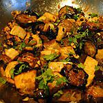 recette Aubergines et tofu aigre-doux (du site RICARDO Cuisine)