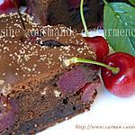 recette Brownie au chocolat et cerises à l'Amaretto