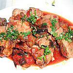 recette AGNELLO OLIVE E MELANZANE (agneau olives et aubergines)