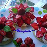 recette ~Petits gâteaux éponge à la crème et aux fraises~