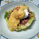 recette Oeufs pochés aux crevettes grises et poireau