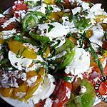 recette Carpaccio de tomates multicolores