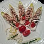 recette Chicon aux crevettes grises 'feuille d'endive'