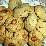 recette Cookies aux beurre de cacahuètes et chouchoux