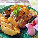recette roti de porc cocotte a la creme et 2 pommes (hanor et melayers)
