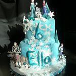 recette Gâteaux reine des neige pour l'anniversaire de ma fille