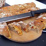 recette Baguettes fourrés chorizo fromages