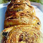 recette Pain spirale olives et parmesan