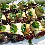 recette Roulés d'aubergines au jambon fumé