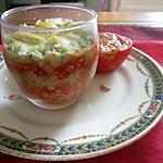 recette verrine  a la créme d avocat et poivron de l eau a la bouche