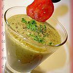 recette crème de courgettes glacée aux noisettes et tomates marinées