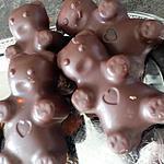 recette Nounours chocolat M&M fait par les enfants