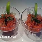 recette Petite entrée de saumon frais sauce aux herbes aromatiques