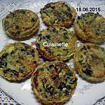 recette Quiche aux champignons et lardons fumés.