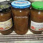 recette Confiture de rhubarbe.abricots en machine à pain.
