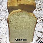 recette pain de mie en machine à pain.