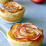 recette Roses feuilletées aux pommes