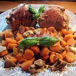 recette Escalopes de jambon farcies et légumes..