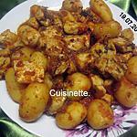 recette Sauté de dinde aux p de terre en sauce.