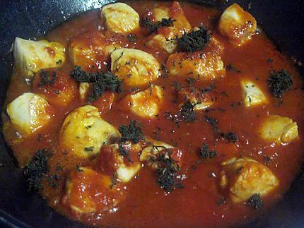 Recette de Sauté de dinde aux p de terre en sauce.