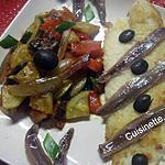 recette Filets de pangas aux légumes et anchois.