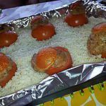 recette Riz au tomates farcies (au four) de Maman et Mamie